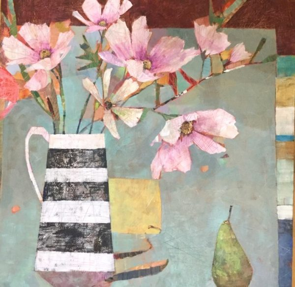 Flowers on the Corner Table 76 x76 cms £1095