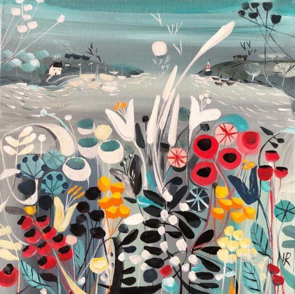 Natalie Rymer Sea Air 30x30 acrylic framed