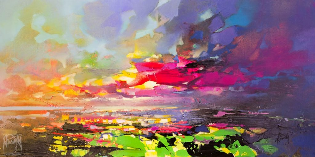 'Spectrum Sky 1' 50 x 100cm £3700 oil & acrylic on linen
