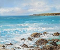 Amanda Hoskin - Sea rushes in, looking towards Start Point £545