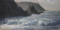 Blustery day, Hope Cove_ 59x28cm £875