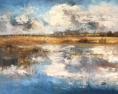 Claire Wiltsher Winter Estuary 100x80