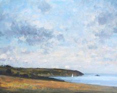 2. 'Sailing into Dartmouth' Oil on panel 40x50cm £750