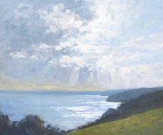 4. 'Sun through the clouds from Little Dartmouth' Oil on panel 50x60cm £895