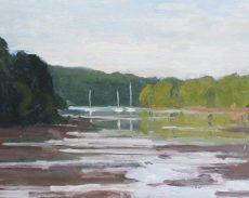 6. 'Reflections near Dittisham' Oil on Panel 20x25cm £395