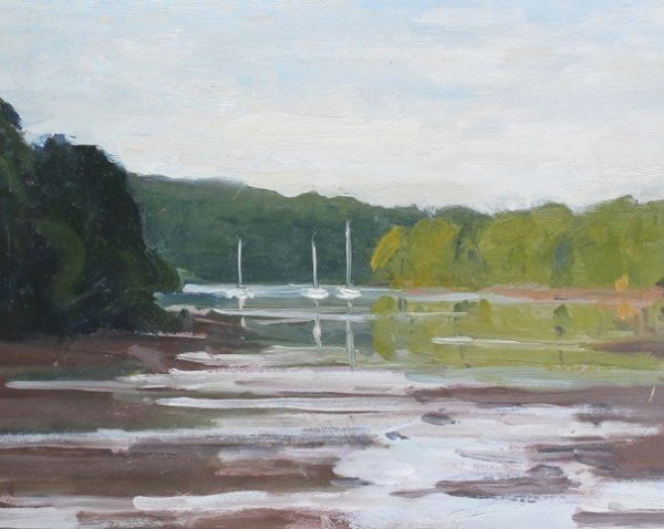 6. 'Reflections near Dittisham' Oil on Panel 20x25cm £395