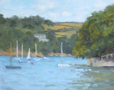 Colin Willey - 1. 'Sailing at Warfleet' Oil on panel 20x25cm £395