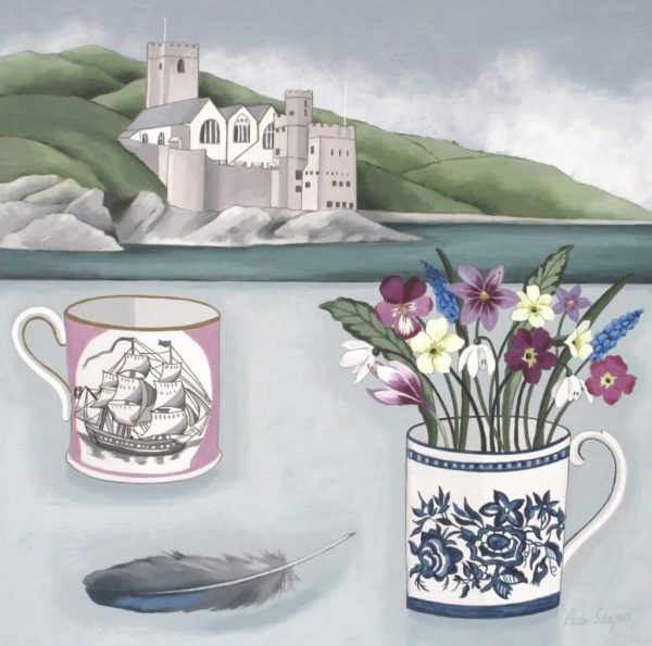 Dartmouth Castle and Spring Flowers