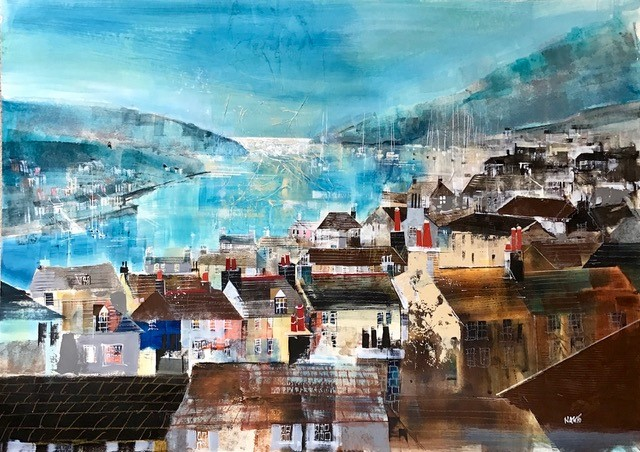 "Dartmouth panorama (2), size 33"" x 23.5"", £1200"