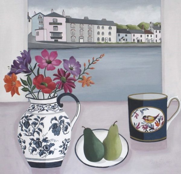 Dittisham View and Summer Flowers