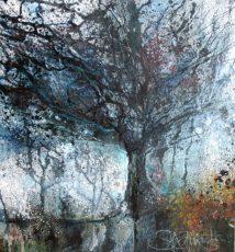Gnarly Hawthorn (Study) (30 x 30cm)