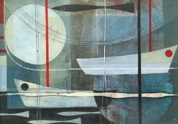 Heidi archer moonlit harbour 35x25