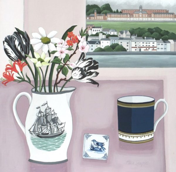 River View and Creamware Jug