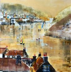 "Summer on the Dart, size 16.5"" x 16.5"", £595"