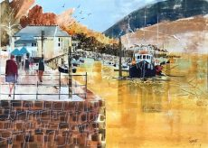 "Town jetty, Dartmouth, size 23.5"" x 16.5"", £795"