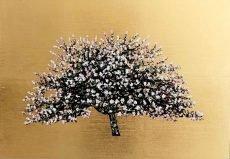 Jack Frame Apple Blossom oil on gold leaf 42 x 29 £650