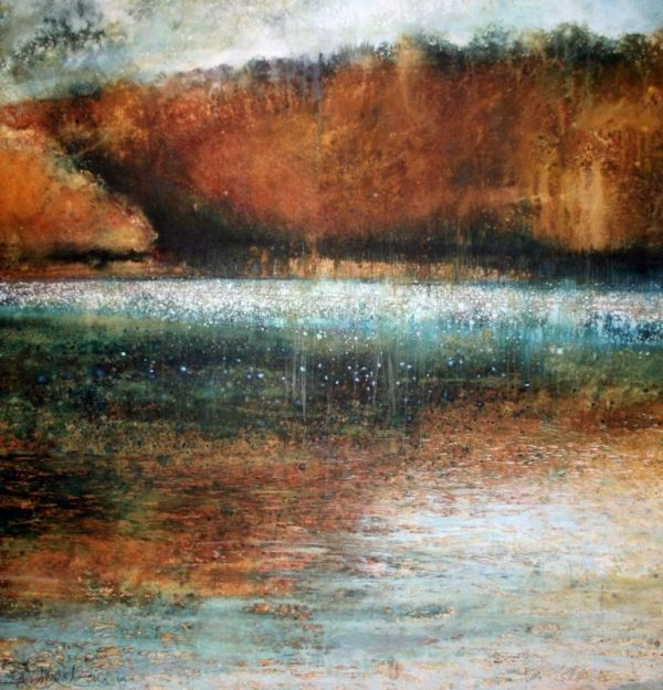 Rothko's Corner - Sharpham Reach (87 x 89cm)