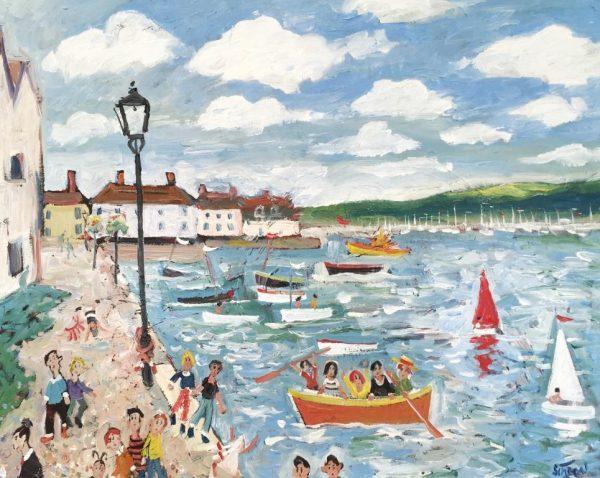 Simeon Stafford - Dartmouth Bayards Cove - 76x61 £2500