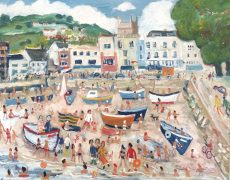 Simeon Stafford - Dartmouth Boat Float - 76x61 £2500
