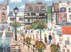 Simeon Stafford - Dartmouth Quay - 61x46 1750