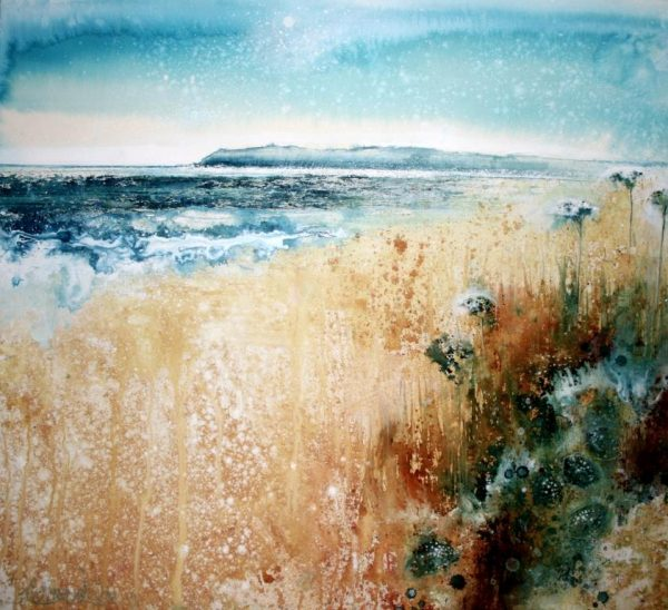 Sun Start Point and Wild Carrot ( 69 x 76cm) (002)