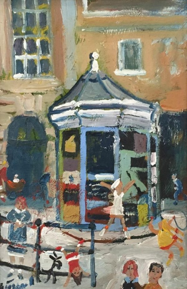 Simeon Stafford - Booth on the Quay - 25x18 £950