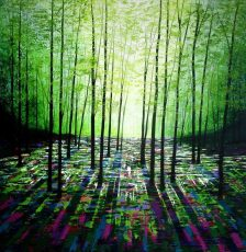 """Evergreen"" acrylics on canvas 76x76cms £950"