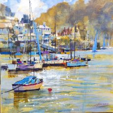 Kingswear and soft sunlight 50x50 £1125