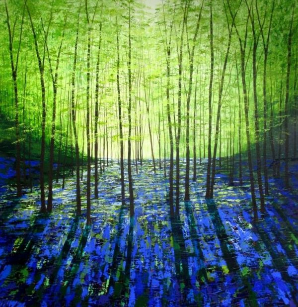 A Lighter Forest acrylics on canvas 102x102cms £1500 (1)
