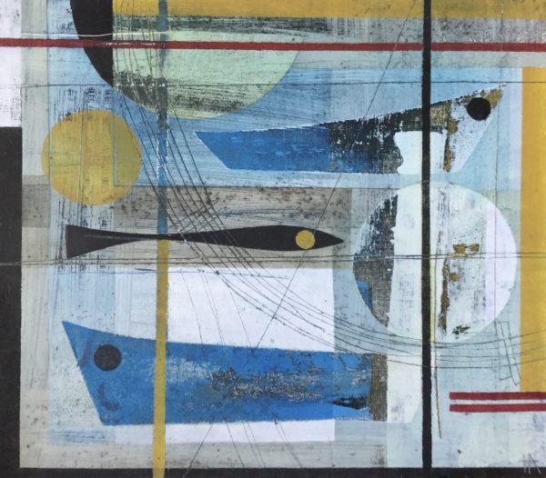 Boating reflections.Heidi Archer. 25 x 29cm