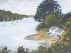 CW 'Sailing at Helford Passage' Oil on board 30x40cm £525