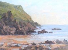 CW 'Sailing at Hope Cove' Oil on board 30x40cm £525