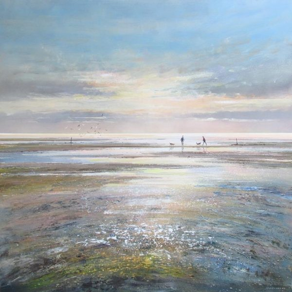 Estuary at Dusk 90 x 90 cm £1495 low res
