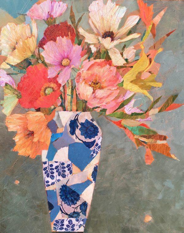SAF 1 June Garden Flowers 24 x30 in £985