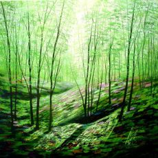 Tranquility Wood, acrylics on canvas 76x76cms £950 (1)