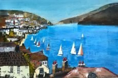 "Catching the wind, Dart estuary, size 23.5"" x 15.5"", £795"