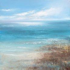 Dazzling Light, Start Bay...oil on canvas....60 x60cm....£2,500.00