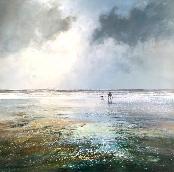 Michael Sanders Walking the Dog 90 x 90 cm £1495