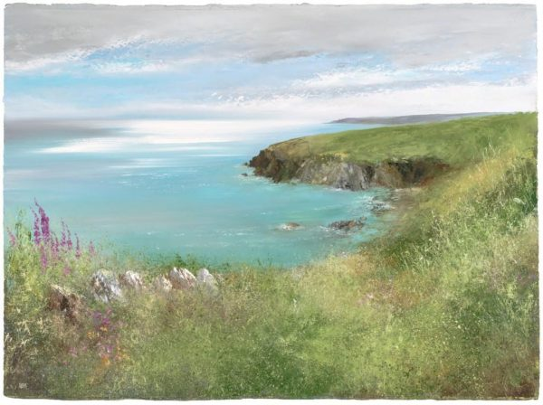 On-the-Coastal-Path-to-Little-Dartmouth...oil-on-paper...56-x-68...£2450.00