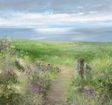 Path Towards the Sea, Start Bay...oil on paper...37 x 40cm ...£950.00
