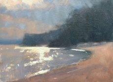 Robin Mason - Sun through cloud, Blackpool Sands 17x13cm £325