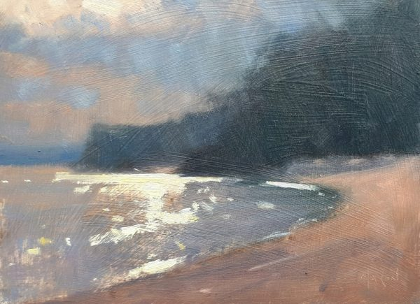 Robin Mason - Sun through cloud, Blackpool Sands 17x13cm £325