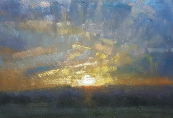 Robin Mason - End of a beautiful day 17x13cm £325