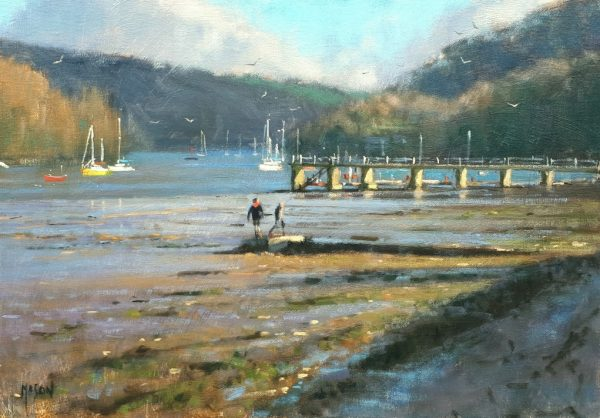 Robin Mason - Low tide, Dittisham 60x42cm £1050