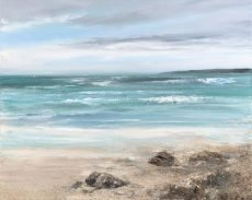 Watching the Waves roll in, Torcross....oil on canvas....80 x 100 cm...£3,495.00