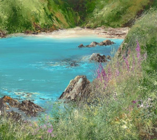 A Quiet Cove, Perfect to Sit and Rest Awhile - oil on paper -47 x 53.5 cm - £1,595.00