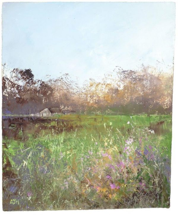 End of a Perfect Summer's Day - oil on paper 20 x 16.5cm £550.00
