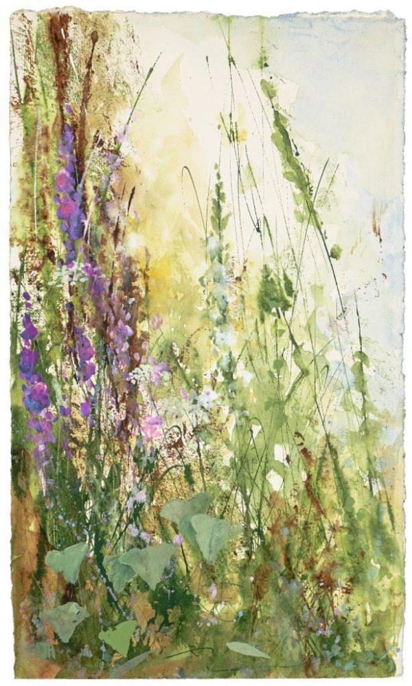 Gentle Light Through the Grasses- mixed media - 37 x 21 £675.00