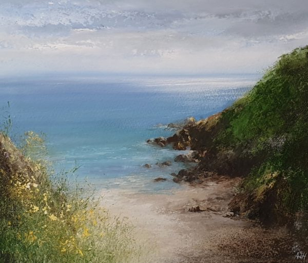 Late afternoon at Compass Cove £850 28cm x 24cm