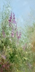 The Poetry of Summer Flowers - oil on canvas - 30 x 14.5cm £595.00